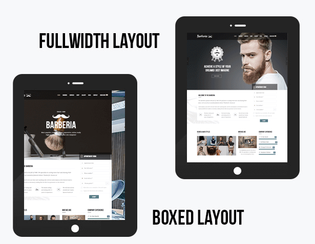 theme wordpress coiffure barbier homme