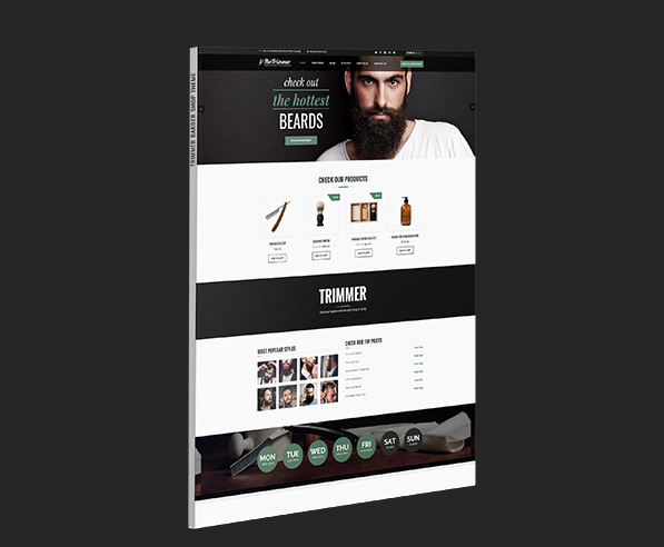 theme wordpress coiffure barbier