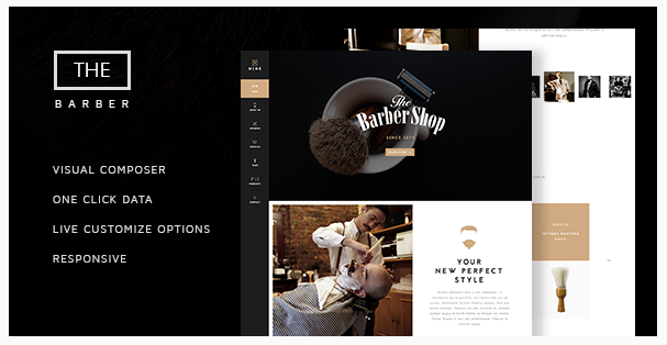 theme wordpress barber shop