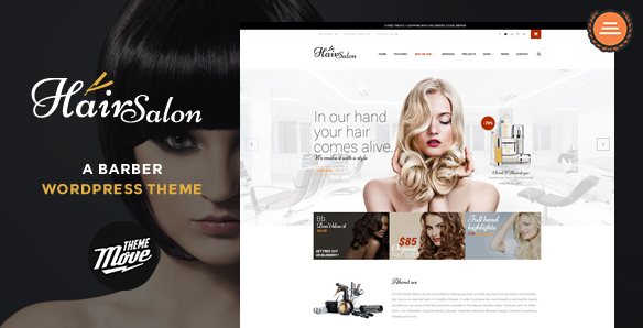 theme wordpress coiffure