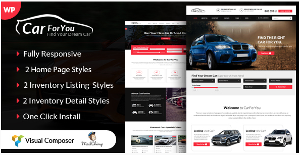 theme wordpress automobile vente de voitures