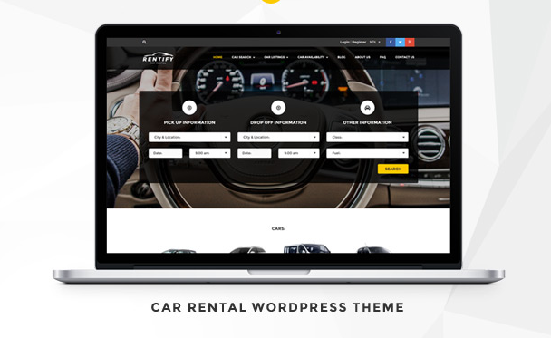 theme wordpress location voiture rental car