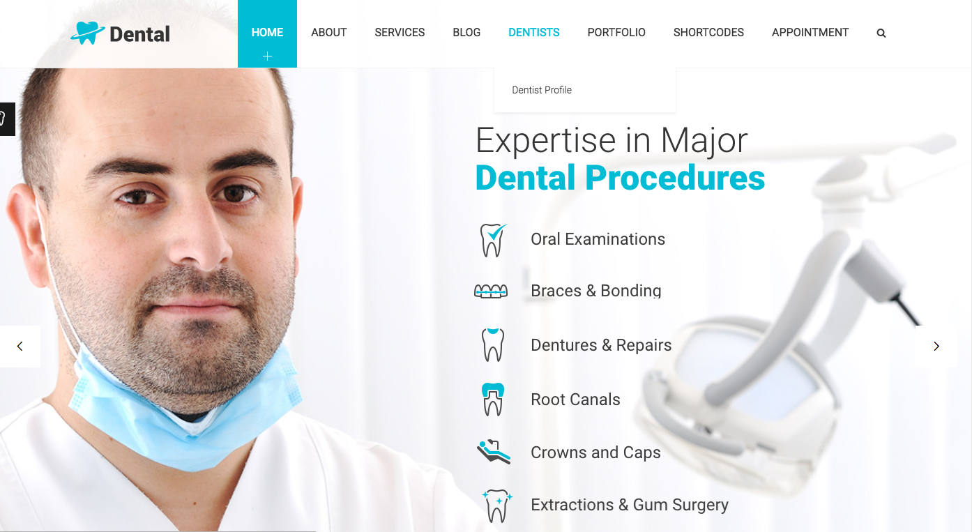 themes WordPress pour dentiste