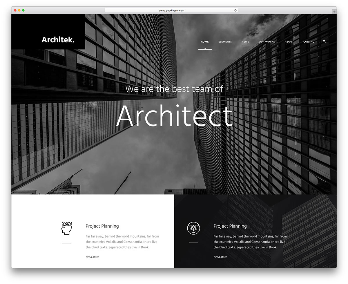 theme wordpress architect